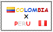 .: Colombia x Peru Stamp by ChokorettoMilku