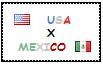 .: USA x Mexico Stamp by ChokorettoMilku