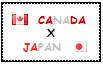 .: Canada x Japan Stamp by ChokorettoMilku