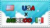 .: USA x Mexico II Stamp by ChokorettoMilku