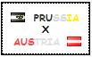 .: Prussia x Austria Stamp by ChokorettoMilku