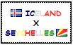 .: Iceland x Seychelles Stamp by ChokorettoMilku