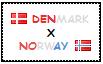 .: Denmark x Norway Stamp by ChokorettoMilku