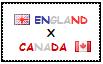 .: England x Canada Stamp by ChokorettoMilku