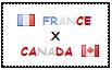.: France x Canada Stamp by ChokorettoMilku