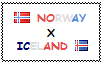 .: Norway x Iceland Stamp by ChokorettoMilku