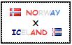 .: Norway x Iceland Stamp by ChokorettoMilku