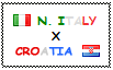 .: North Italy x Croatia Stamp by ChokorettoMilku