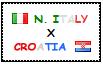 .: North Italy x Croatia Stamp by ChokorettoMilku