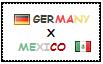 .: Germany x Mexico Stamp by ChokorettoMilku
