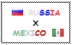 .: Russia x Mexico Stamp by ChokorettoMilku