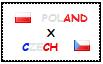 .: Poland x Czech Stamp by ChokorettoMilku