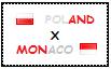 .: Poland x Monaco Stamp by ChokorettoMilku
