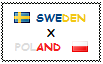 .: Sweden x Poland Stamp by ChokorettoMilku