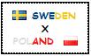 .: Sweden x Poland Stamp by ChokorettoMilku