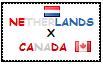 .: Netherlands x Canada Stamp by ChokorettoMilku