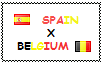 .: Spain x Belgium Stamp by ChokorettoMilku