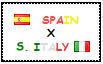 .: Spain x South Italy Stamp by ChokorettoMilku