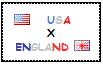 .: USA x England Stamp by ChokorettoMilku