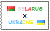 .: Belarus x Ukraine Stamp by ChokorettoMilku