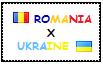 .: Romania x Ukraine Stamp by ChokorettoMilku