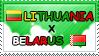 .: Lithuania x Belarus II Stamp by ChokorettoMilku