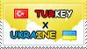 .: Turkey x Ukraine II Stamp by ChokorettoMilku