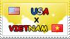 .: USA x Vietnam II Stamp by ChokorettoMilku
