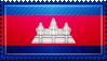 Cambodia Flag Stamp by ChokorettoMilku