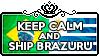 Keep Calm and Ship BrazUru by ChokorettoMilku
