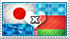 APH: Japan x Belarus Stamp by ChokorettoMilku