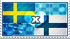 APH: Sweden x Finland Stamp by ChokorettoMilku