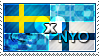 APH: Sweden x Nyo!Finland Stamp by ChokorettoMilku
