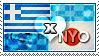 APH: Greece x Nyo!Japan Stamp by ChokorettoMilku