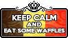 Keep Calm and Eat some Waffles by ChokorettoMilku
