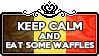 Keep Calm and Eat some Waffles by ChokorettoMilku