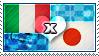 APH: Italy x Japan Stamp by ChokorettoMilku