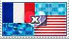 APH: France x USA Stamp by ChokorettoMilku