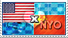 APH: USA x Nyo!China Stamp by ChokorettoMilku