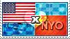 APH: USA x Nyo!China Stamp by ChokorettoMilku