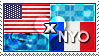 APH: USA x Nyo!France Stamp by ChokorettoMilku