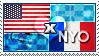 APH: USA x Nyo!France Stamp by ChokorettoMilku