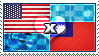 APH: USA x Taiwan Stamp by ChokorettoMilku