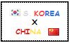 .: South Korea x China Stamp by ChokorettoMilku