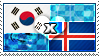 APH: South Korea x Iceland Stamp by ChokorettoMilku