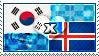 APH: South Korea x Iceland Stamp by ChokorettoMilku