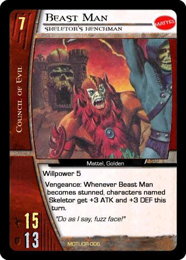 VS System: Beast Man, Skeletor's Henchman by wallbie on ...