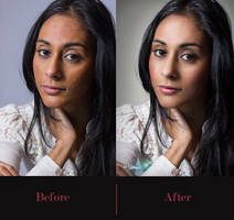 Beauty retouching Before and After by Justinlite