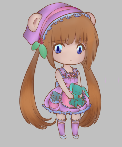 Chibi colored lineart~ by Frozentinktheartisty