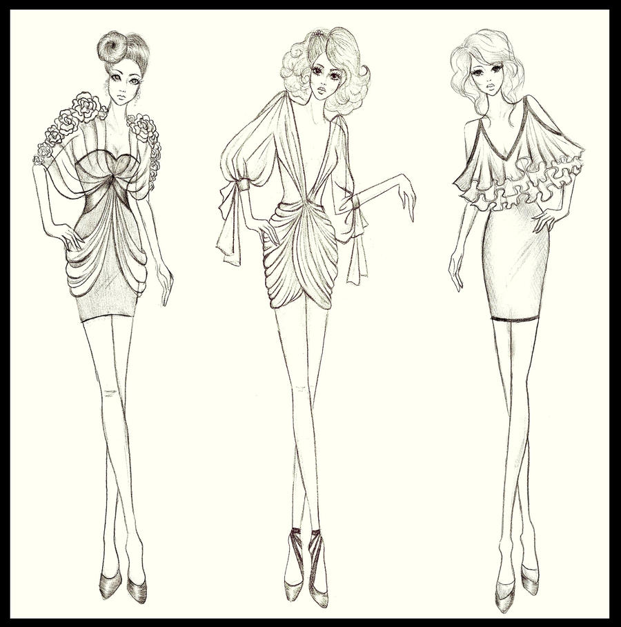 Fashion design dresses 3 by twishh on deviantart for How to be a fashion designer at 14